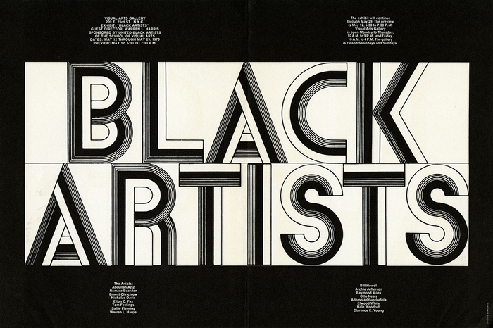 Black Artists exhibition poster