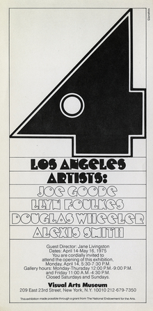 <cite>Four Los Angeles Artists</cite> exhibition poster