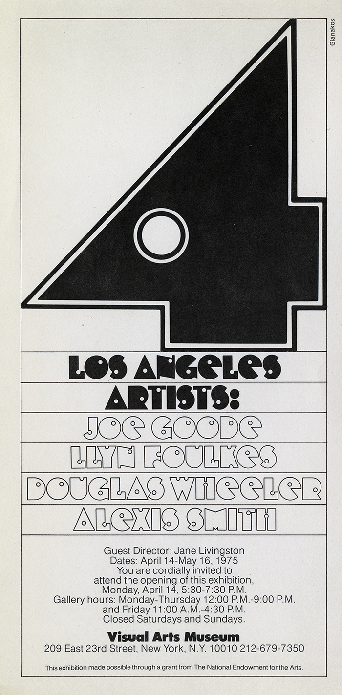 Four Los Angeles Artists exhibition poster