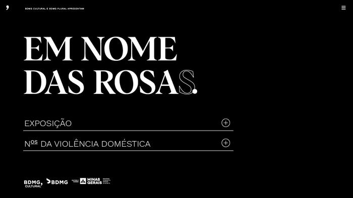Em Nome das Rosas website 1