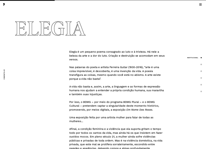 Em Nome das Rosas website 2