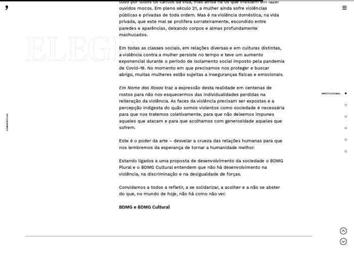 Em Nome das Rosas website 3