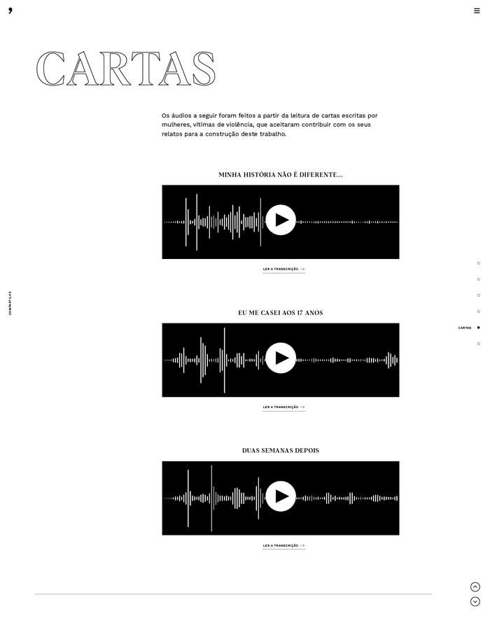 Em Nome das Rosas website 4