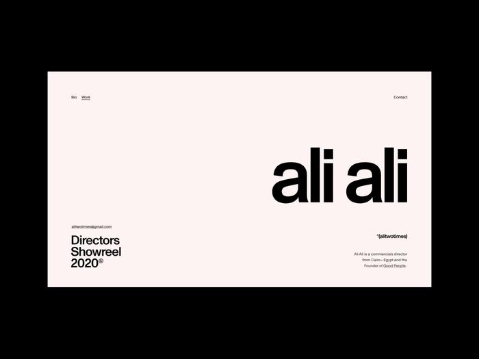 Ali Ali website 1