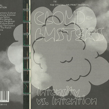 <cite>Cloudbusters: Intensity vs. Intention</cite> – 17th Tallinn Print Triennial exhibition guide book / catalogue