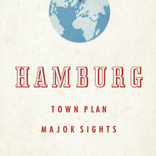 Hamburg town plan and major sights (1952)