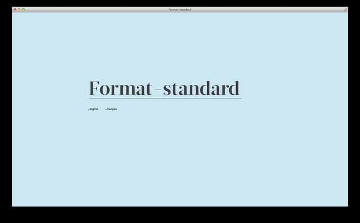 Format–standard Web Magazine 1