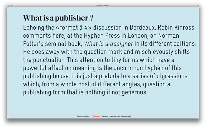 Format–standard Web Magazine 5