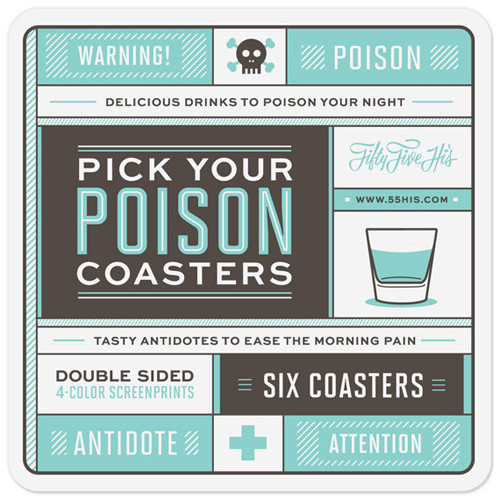 Pick Your Poison Coasters 1