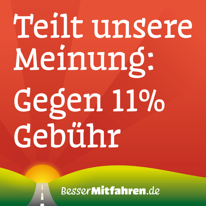 """Share our opinion: No to 11% fees"" (Facebook banner)"