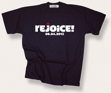 """Rejoice!"" T-shirt by Philosophy Football"