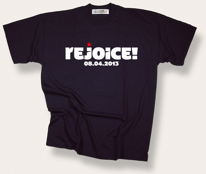 Rejoice! T-shirt by Philosophy Football