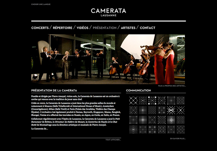 The website was designed by Demian Conrad and realized by Ergopix.