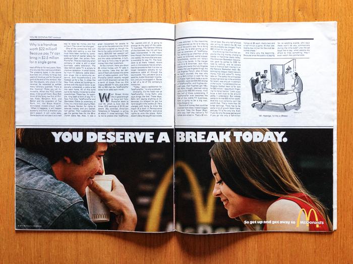 """McDonald's Ad: """"You Deserve a Break"""" (1971) 1"""