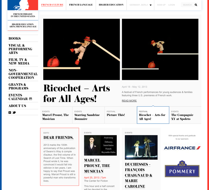 French Culture website 1