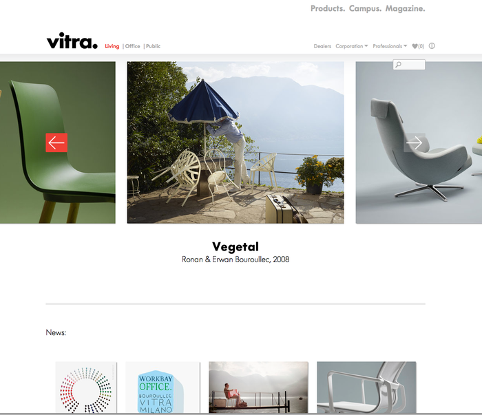 Vitra website (2013) 2