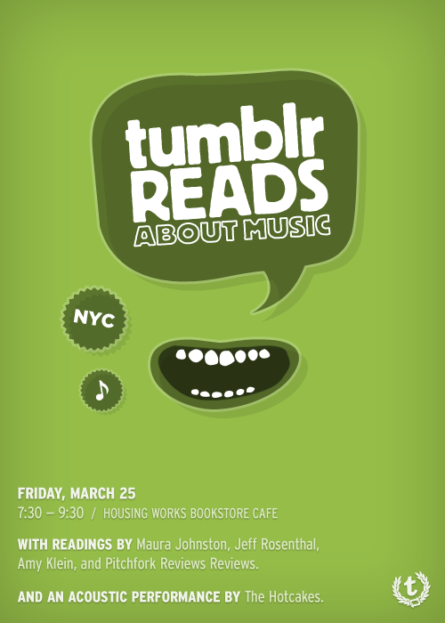 """Tumblr Reads About Music"" poster"