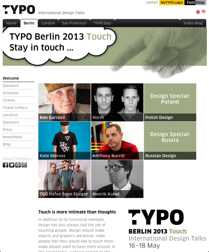 TYPO Berlin 2013 – Touch, Berlin (D), 16–18 May 2013 1