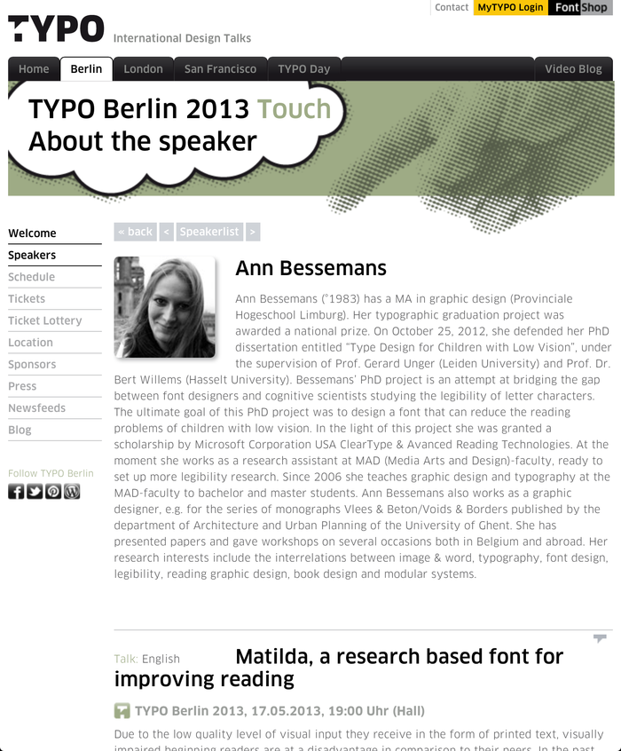 TYPO Berlin 2013 – Touch, Berlin (D), 16–18 May 2013 3