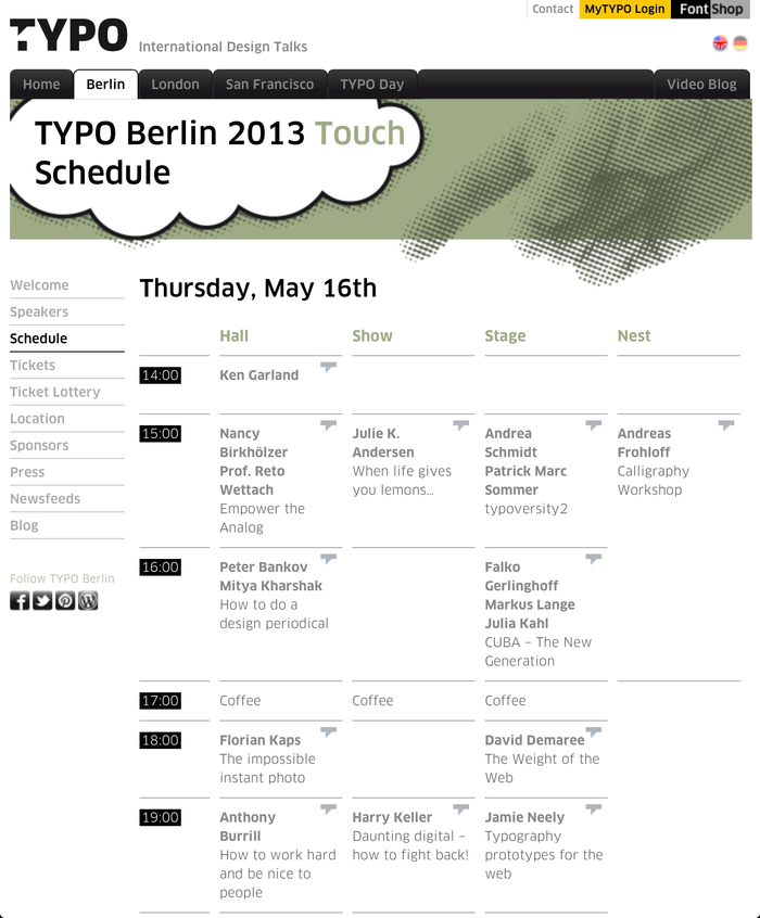 TYPO Berlin 2013 – Touch, Berlin (D), 16–18 May 2013 4