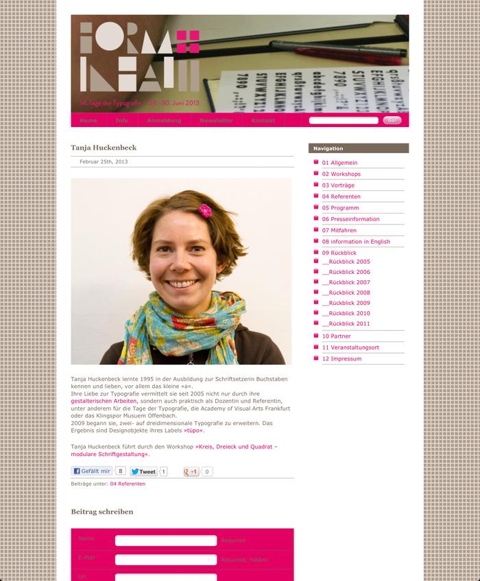Tage der Typografie – form+inhalt, Lage-Hörste (D), 28–30 June 2013 3