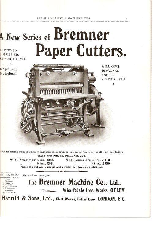 Ads from The British Printer, 1914 1