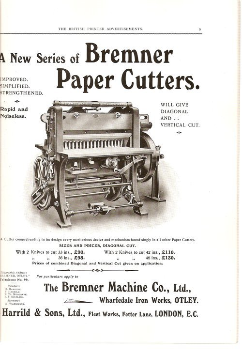Ads from The British Printer, 1914 1