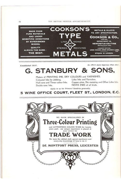 Ads from The British Printer, 1914 2