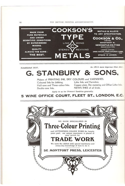 Ads from The British Printer, 1914 2