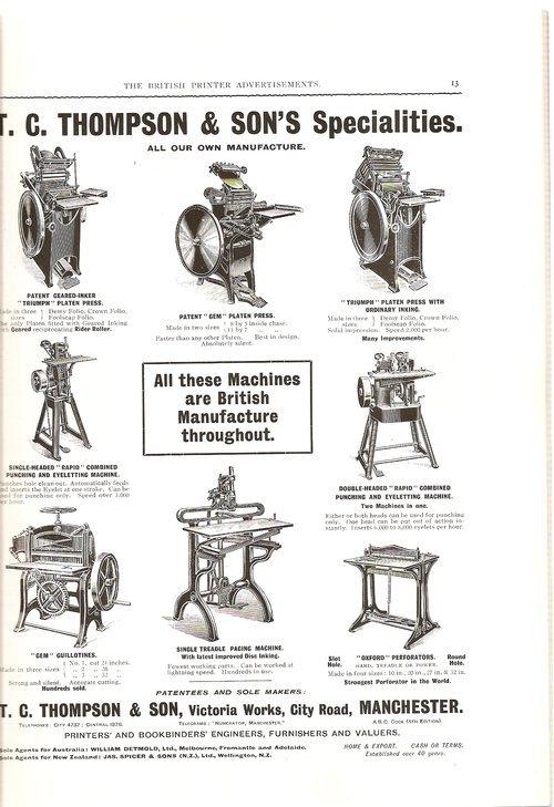 Ads from The British Printer, 1914 3
