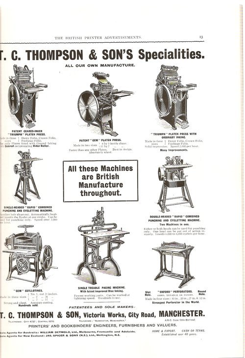 Ads from The British Printer, 1914 3