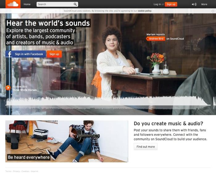 Soundcloud website 1