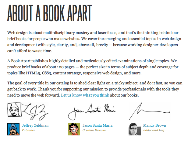 A Book Apart Website 2