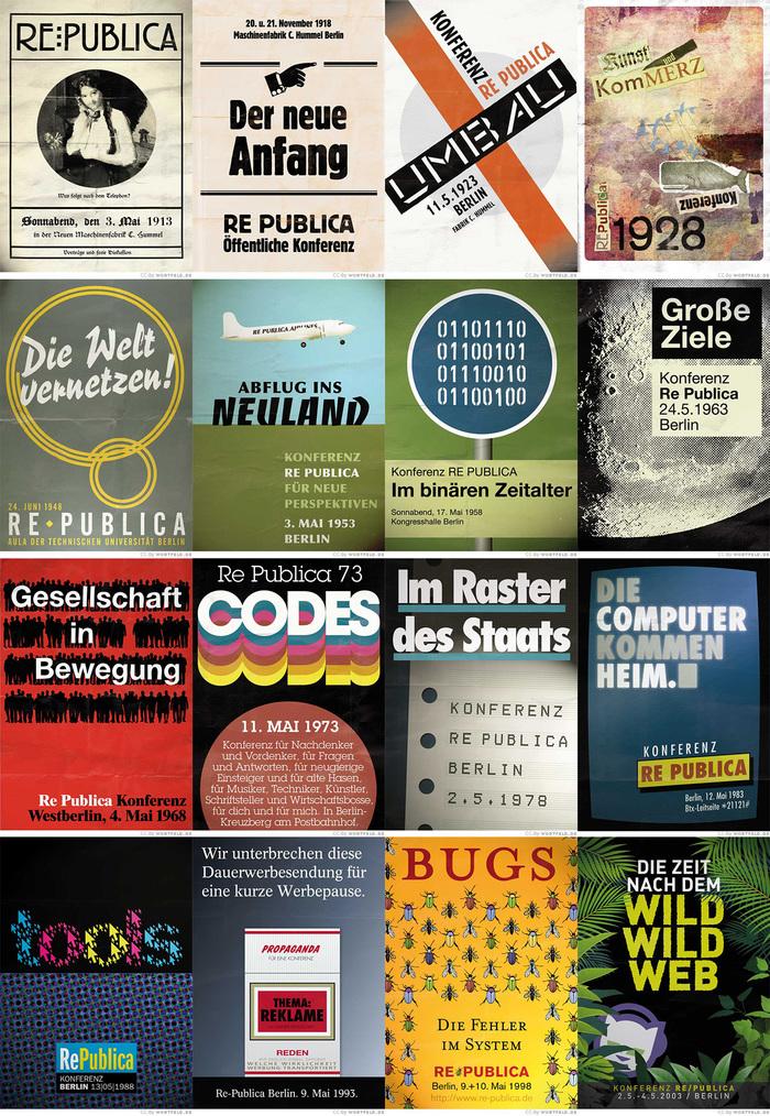 re:publica posters, 1913–2013 1