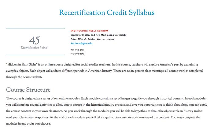 Hidden in Plain Sight Online Course Syllabus