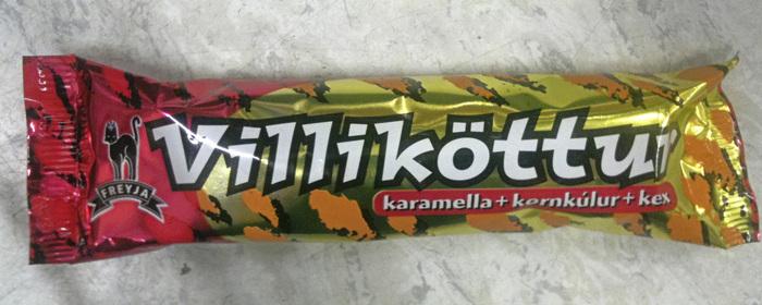 Villiköttur candy bar