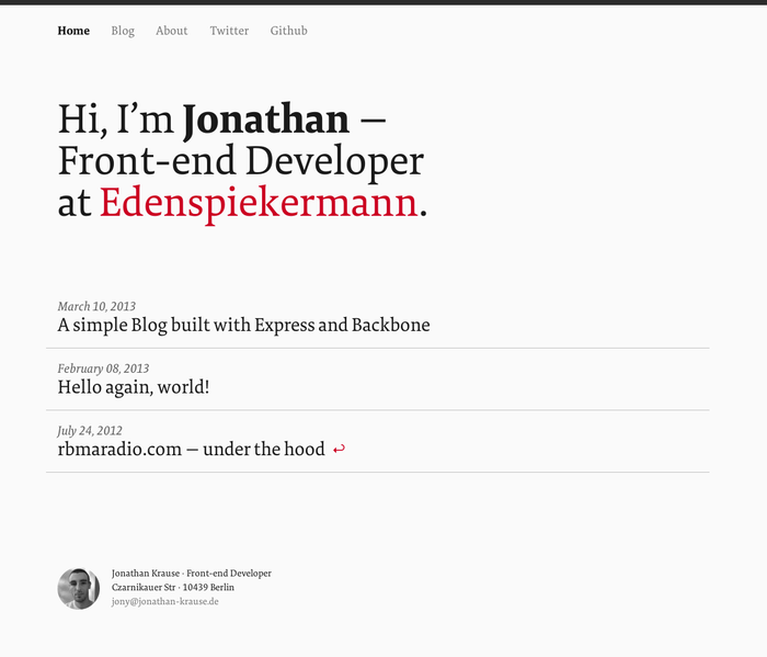 Jonathan Krause personal site 2