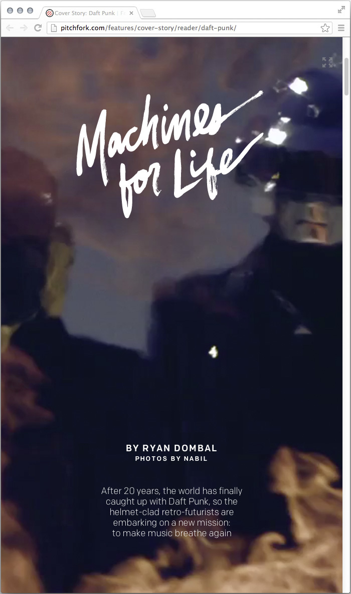 Machines for Life Pitchfork Cover Story 1