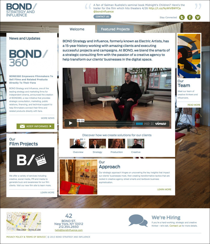 Bond Strategy and Influence Website 2
