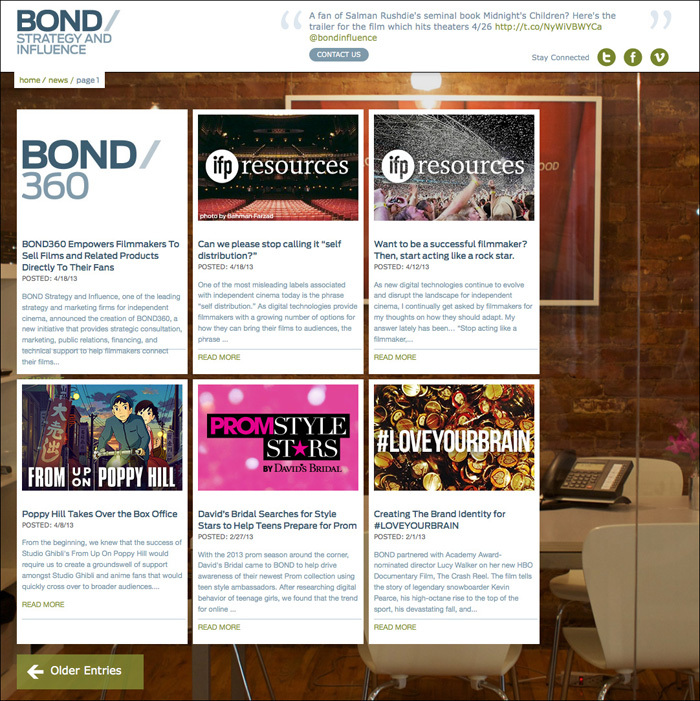 Bond Strategy and Influence Website 3
