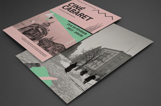 Création graphique pour un Ciné Cabaret réalisé par le studio Shebam