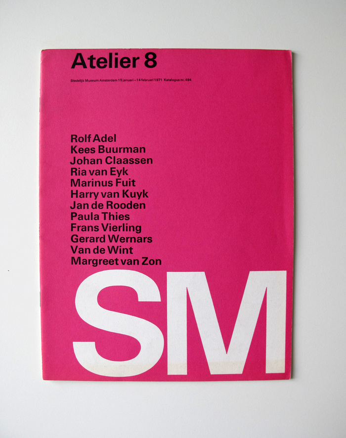 Catalog covers for Stedelijk Museum 2