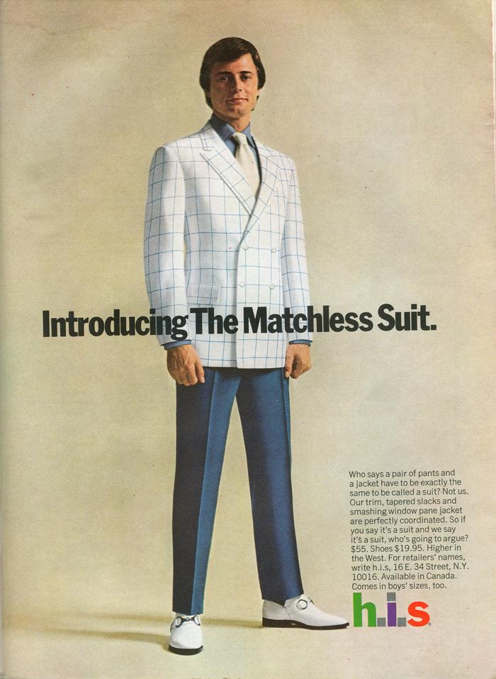 H.I.S Menswear Advertising (1960s–70s) 12