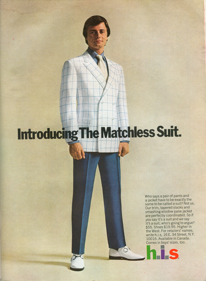 H.I.S Menswear Advertising (1960s–70s) 12
