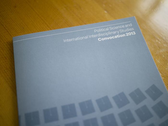 University of Illinois Political Science and International Interdisciplinary Studies 2013 Convocation Program 1