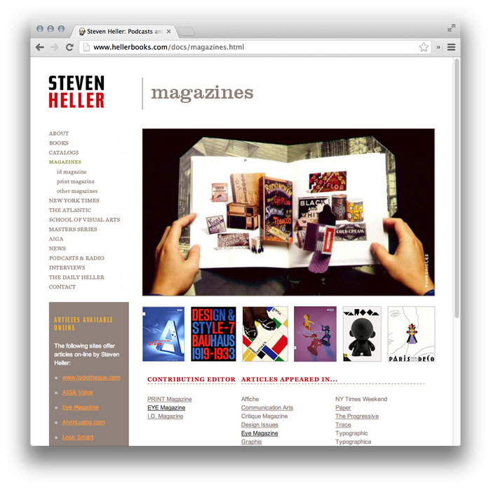 Steven Heller Website: hellerbooks.com 1