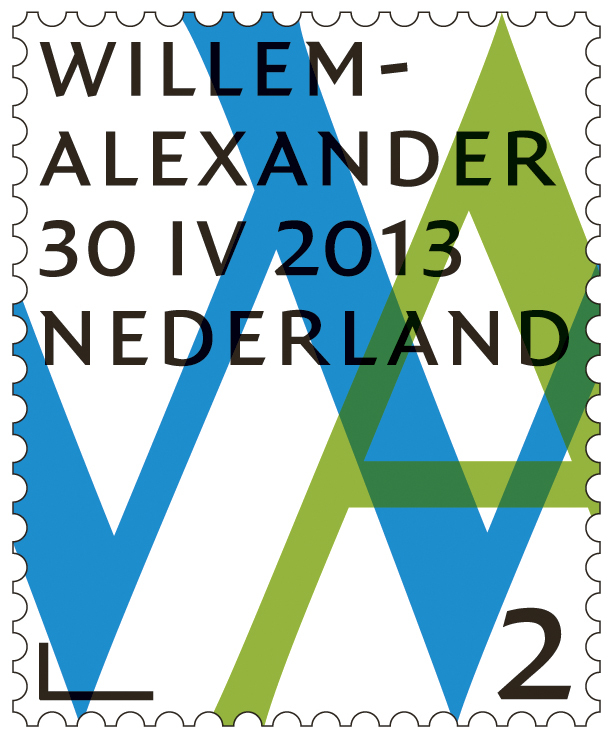 Inauguration stamps for Willem-Alexander, King of the Netherlands 1