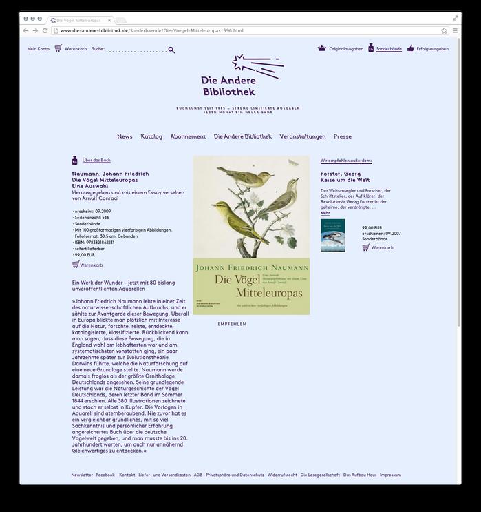 Die Andere Bibliothek website 3