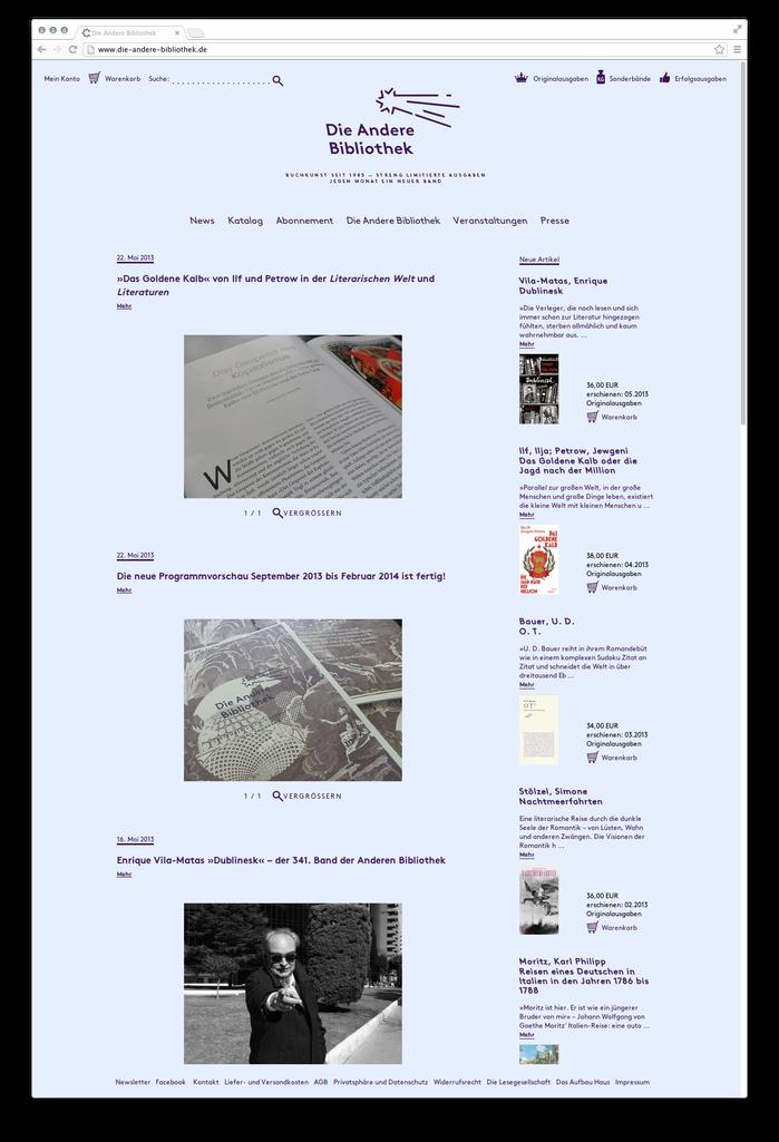 Die Andere Bibliothek website 2
