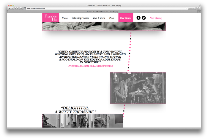 Frances Ha Poster and Website 2